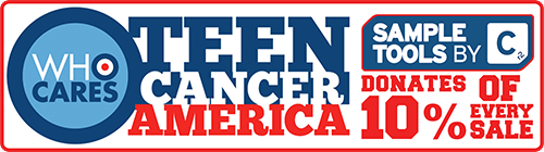 Sample Tools by CR2 donates 10% of every sale to Teen Cancer America.